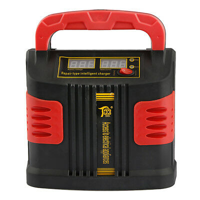 AUTO Plus Adjust LCD Battery Charger 12V-24V Car Booster 350W 14A