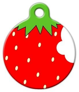 STRAWBERRY - Custom Personalized Pet ID Tag for Dog and Cat Collars