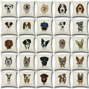 18-034-Dog-Linen-Decor-Cotton-Throw-Pillow-Case-Sofa-Cushion-Cover-Car-Pillowcases
