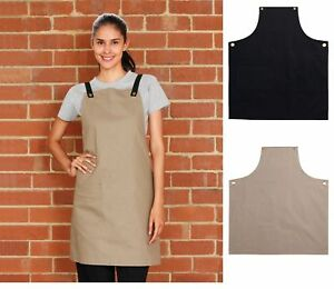 NEW WOMENS BRUNSWICK BIB APRON KITCHEN BAR WAITER CHEF COOK WORK WOMEN'S APRONS