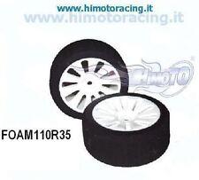 FOAM110R35 COPPIA RUOTE POSTERIORI ON ROAD HIMOTO 1/10 GOMME IN SPUGNA Rim&Tire