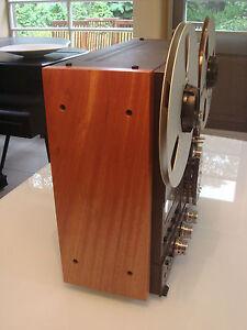 NEW-CUSTOM-Solid-Wood-Side-Panels-Reel-Recorder-Studer-Technics-Otari