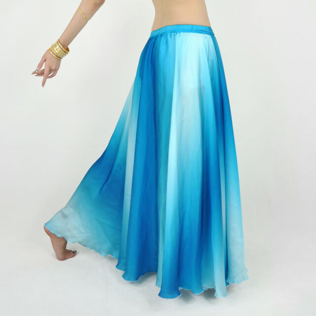 belly dance Costume Silk 360 rolling skirt 4 Colours