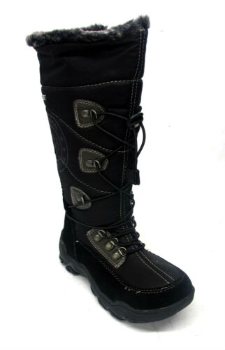 GIRLS SUMOTEX LINED SUPREMO// ICE MAN SNOW WINTER BOOTS SIDE ZIP FAUX FUR LINING