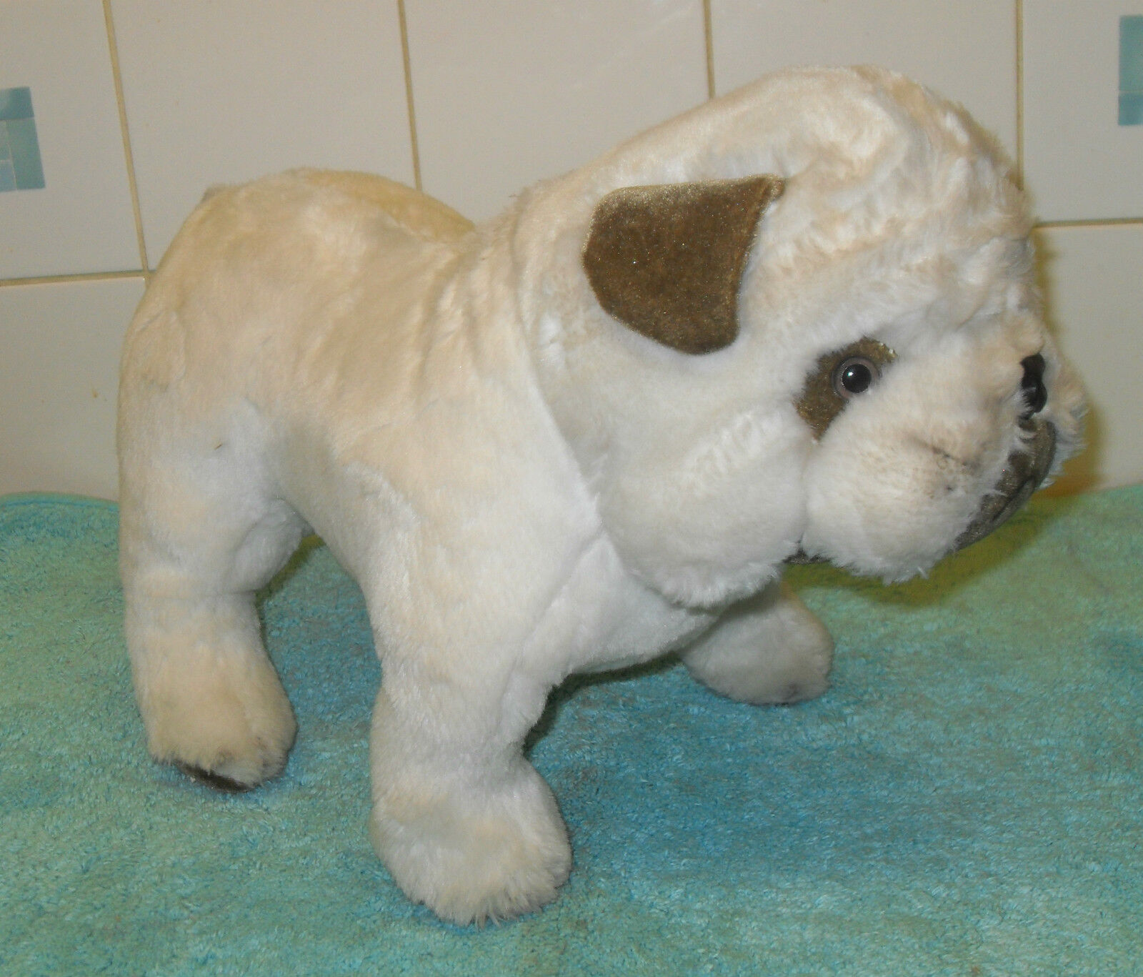 VINTAGE MERRYTHOUGHT STANDING PLUSH LOVELY BULL DOG