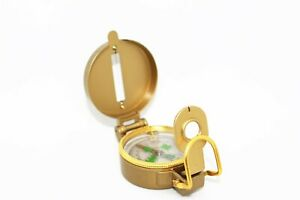 Brass Pocket Watch Style Military Army Compass For Outdoor Camping Hiking New