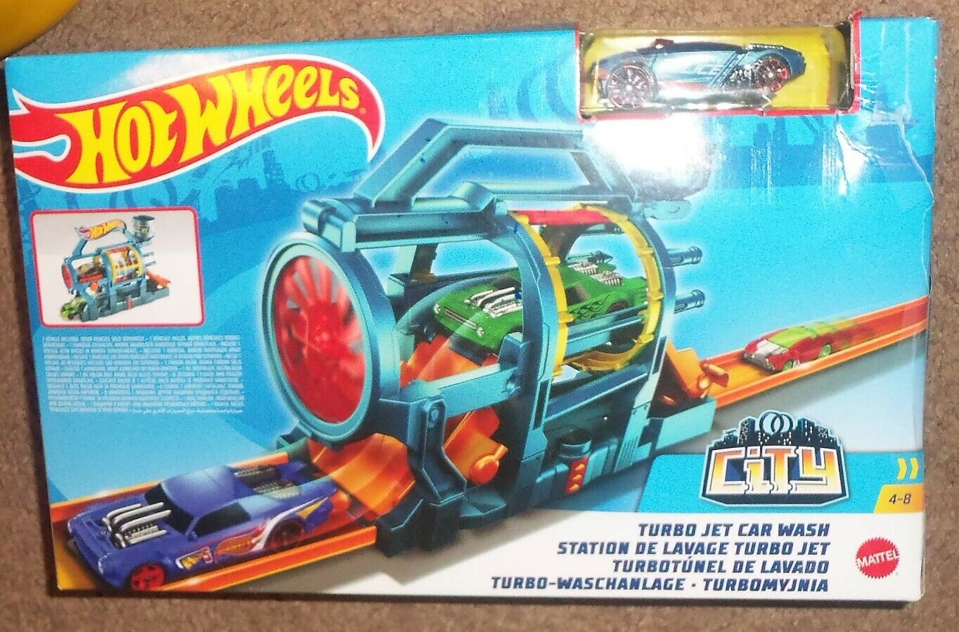 Hot Wheels City Turbo Jet Car Wash Track Set New Nib Mattel For Sale Online