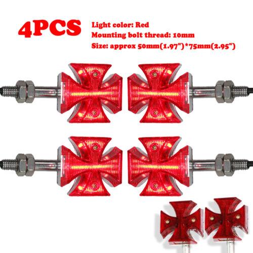 4X Cross Turn Signals Indicators Light For Suzuki Boulevard S40 S50 C109R M109R