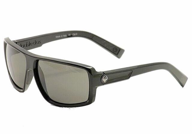 Dragon Men's Double Dos Jet Black Square Sunglasses
