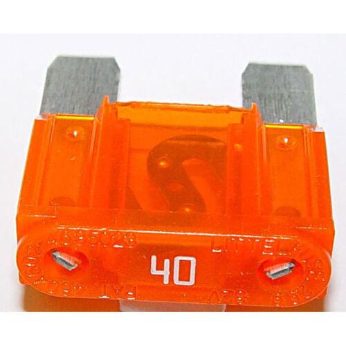 NEW MAXI LARGE BLADE FUSE ORANGE 40 AMP x 10