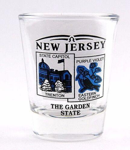 NEW JERSEY STATE SCENERY BLUE NEW SHOT GLASS SHOTGLASS
