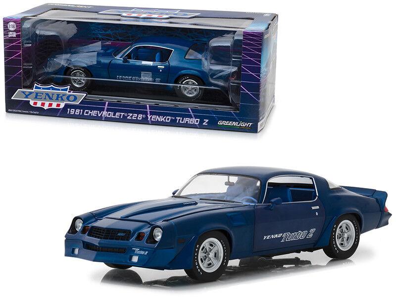 1 18 verdelight 1981 Chevrolet Z28 Coche Modelo Diecast Yenko Turbo Z Azul 13520