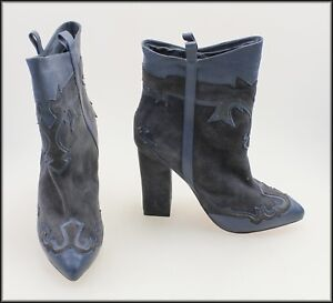 HELLO-MIDNIGHT-SKIN-WOMEN-039-S-HIGH-HEEL-ANKLE-FASHION-BOOTS-SIZE-5-36-EURO-NEW