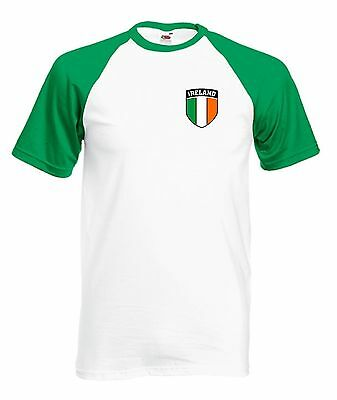 Republic Of Ireland Baseball National Football Team Soccer T-Shirt - All Sizes