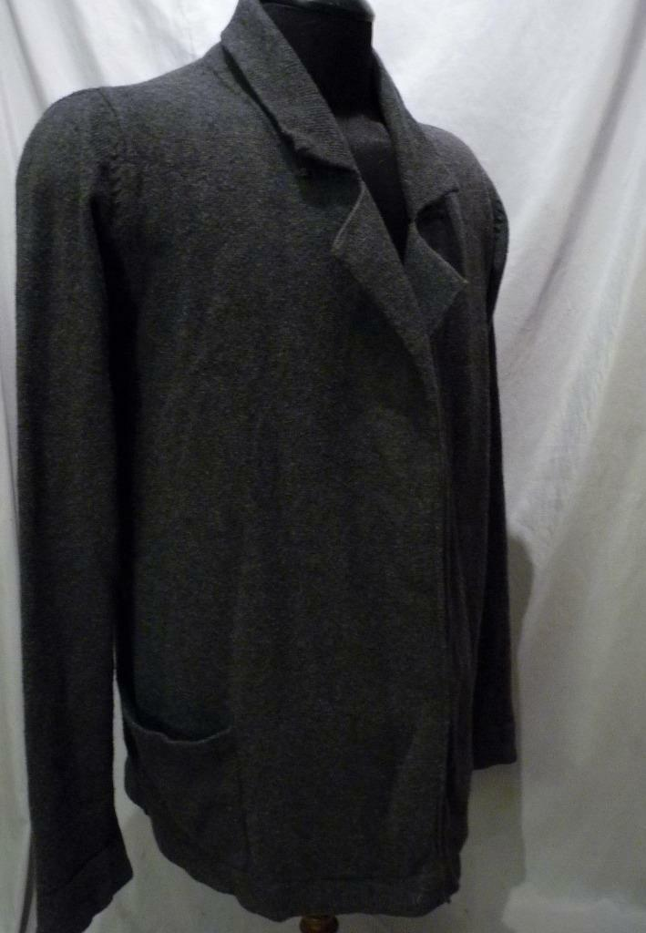 ALL SAINTS OPEN FRONT SPITAFIELDS grau SWEATER XL