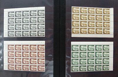 20 X Berlin Heinemann Postfrisch Großen Einheiten Bogenstücke Michel 640 Euro Starke Verpackung