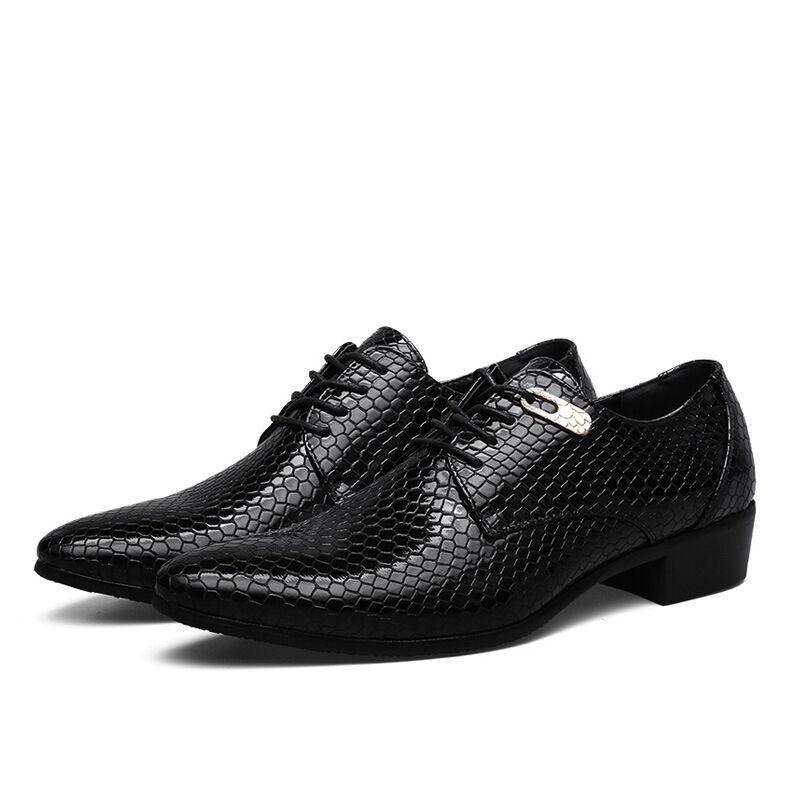Scarpe da Uomo in Pelle Business Oxford Casual partito abito da sposa Formale Oxford Business Moda T6 25a648