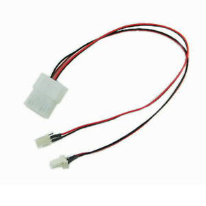 12 4 pin molex connector female to dual 3 pin male. Black Bedroom Furniture Sets. Home Design Ideas