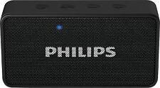 Philips BT64B/94 Black Bluetooth Speaker FM Micro SD Slot Audio In Vat Bill