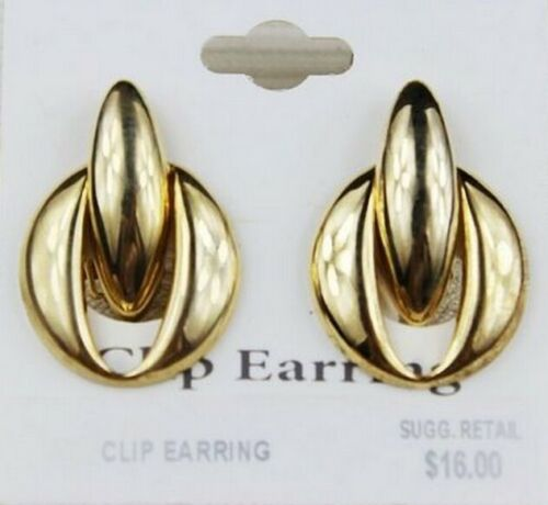 ZE35 Exaggerated exquisite Boutique Grace Irregular fashion ear clip earrings @