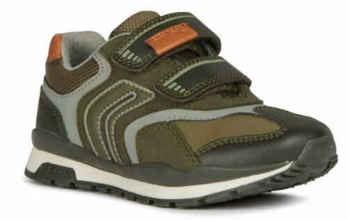 Geox Pavel Kinder Sneakers Turnschuhe J9415a-0affu//c3009 Grün Oliv Neu