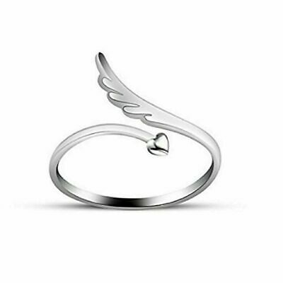 Angel wing sterling silver toe ring
