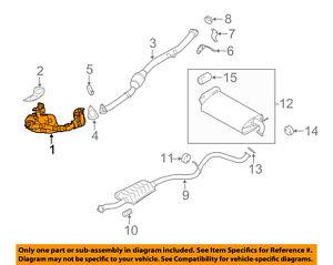 subaru oem 08 11 impreza 2 5l h4 exhaust system crossover pipe  image is loading subaru oem 08 11 impreza 2 5l h4