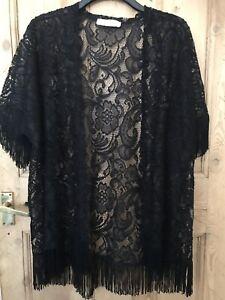 Abercrombie-amp-Fitch-Noir-Haut-Dentelle-12-14-16-robe-fantaisie-1920-S-charleston