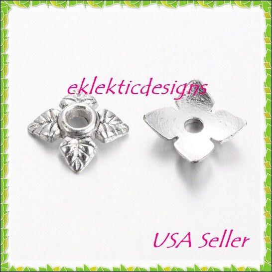 30pcs 6mm Silver Beadcaps Flower Beadcaps Tibetan Style Beadcaps 5 Petals Flower Beadcaps Jewelry Making Beading Supplies DIY Supplies
