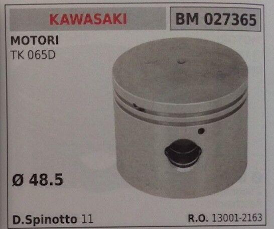 PISTONE COMPLETO DI SEGMENTI E SPIN PER MOTORE KAWASAKI TK 065D Ø 48.5