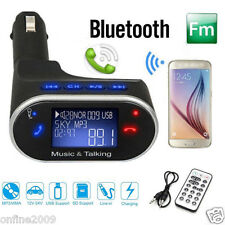 Wireless Bluetooth Car Kit LCD MP3 Player FM Transmitter Modulator Remote USB SD