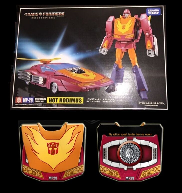 Transformers Takara G1 Masterpiece MP-28 Hot Rod Rodimus & Coin fast ship MISB