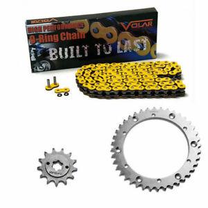 Volar Chain and Sprocket Kit Heavy Duty Yellow for 1988-2006 Yamaha Blaster 200 YFS200