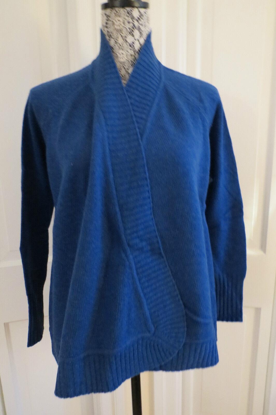 Forte Kinross Cashmere Lapis Shawl Collar Cashmere Cardigan – Small NWT  396