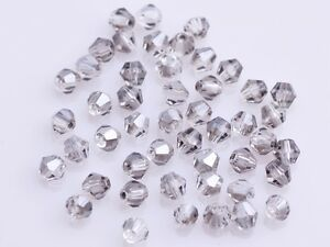 200x-Wholesale-4mm-Bicone-Faceted-Crystal-Glass-Loose-Spacer-Beads-Light-Grey