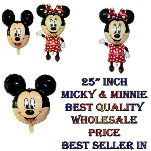 approx. 63.50 cm 25 in Mickey y Minnie Mouse Rostro forma globo de la hoja