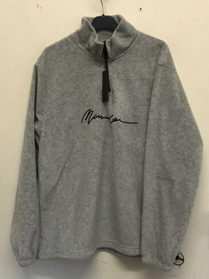 Menace half-zip sweat in grey Size UK XL {R46}