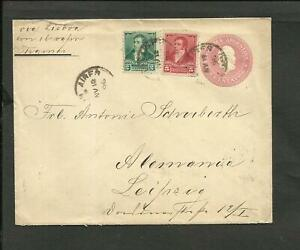 ARGENTINA-TO-GERMANY-POSTAL-STATIONERY-1896-STAMPS-VF