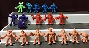 Vintage-Lot-18-Mattel-1980s-M-U-S-C-L-E-Muscle-Men-Collectible-Figures-Y-S-N-T