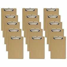 Mini Clipboards 6 X 9 Inches Small Hardboard Clipboard Pack Of 15