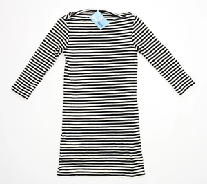 Topshop-Womens-Size-10-Striped-Cotton-Blend-Multi-Coloured-Top-Regular