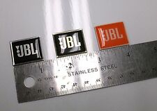 JBL Monitor LOGO BADGES Gold,Silver & PRO Orange BUBBLE FRONT Nice!