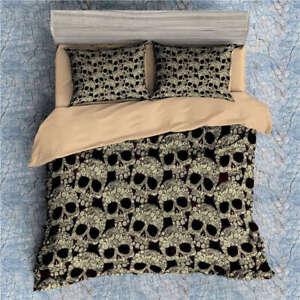 Bunch Golden Skeletons 3D Digital Print Bedding Duvet Quilt Cover Pillowcase