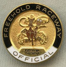 Numbered 1965 Freehold Raceway Track Official Badge