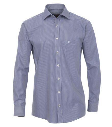 006350 a strisce Casa Moda-Comfort fit-STAFFA libero Uomo Camicia Collo Squalo