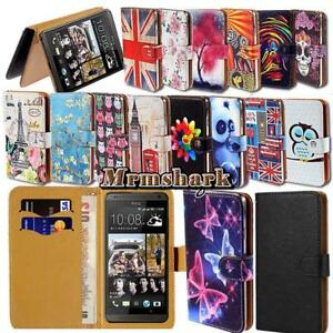 Flip-Leather-Wallet-Card-Stand-Cover-Case-For-Various-HTC-SmartPhones