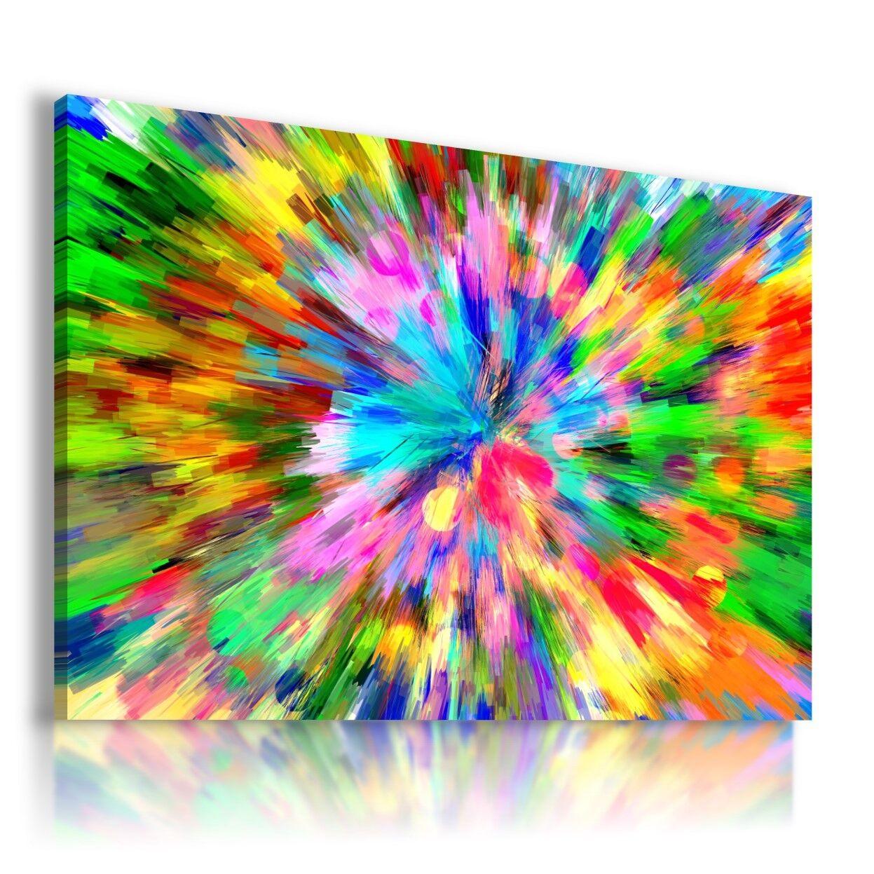 BOMBA Coloreeati Dipinto Astratto stampa su tela Wall Art Picture AB884 mataga.