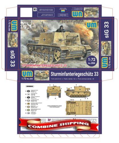 sIG 33 Plastic model kit 1//72 UM 284 15-cm Sturminfanteriegeschutz 33