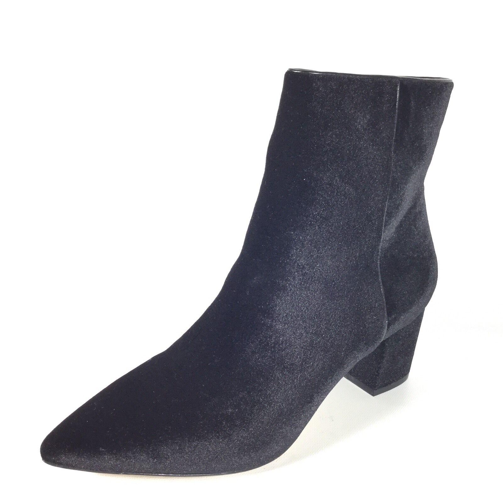 Steven By Steve Madden Bollie Women's 8.5 Black Velvet Heel Ankle Boots.