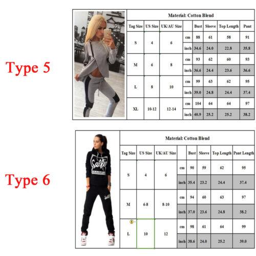 2Pcs Women Tracksuit Hoodies Sweatshirt Pants Gym Sport Wear Casual Suit Sweats